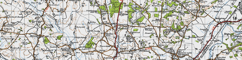 Old map of Whitewood in 1946