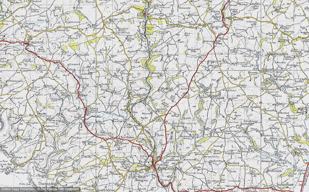 Old Map of Woodleigh, 1946 in 1946