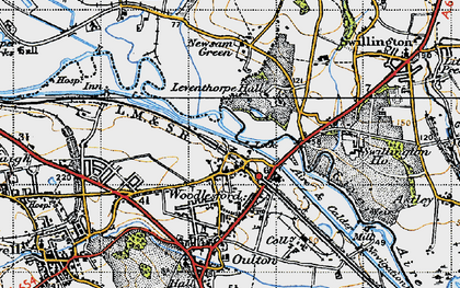 Old map of Woodlesford in 1947