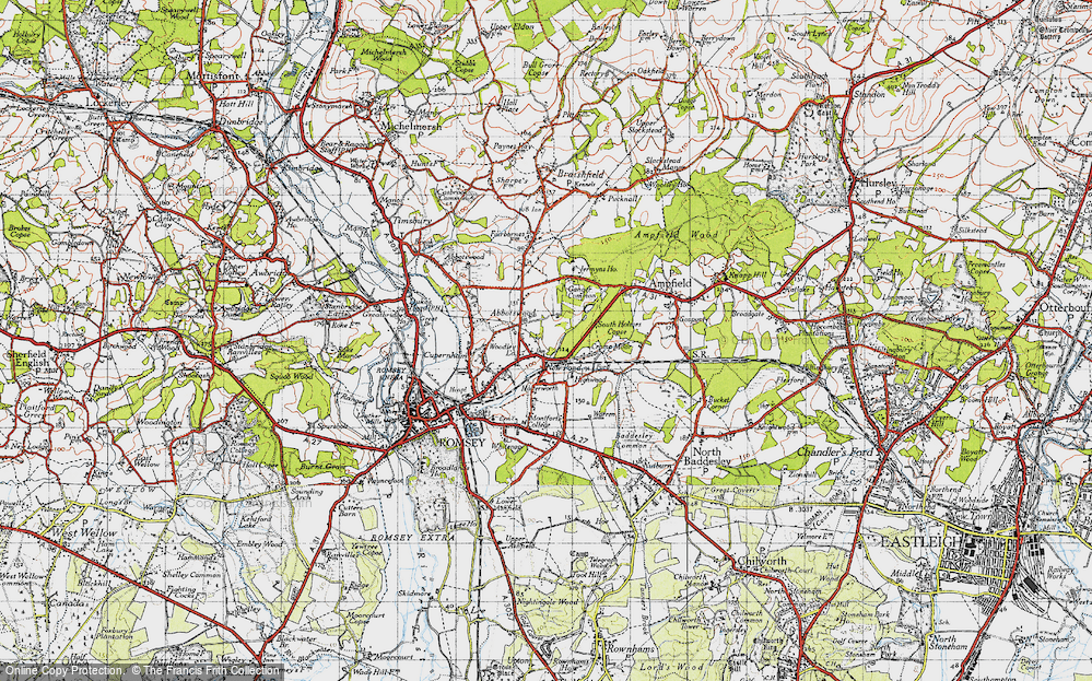Old Map of Woodley, 1945 in 1945
