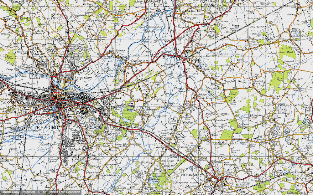 Old Map of Woodley Green, 1940 in 1940