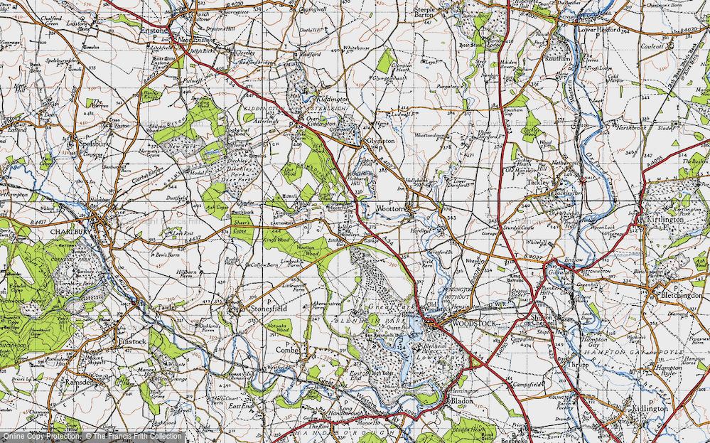 Old Map of Woodleys, 1946 in 1946