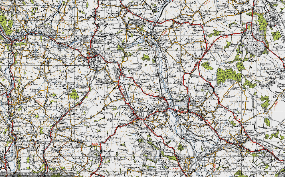 Old Map of Woodlinkin, 1946 in 1946