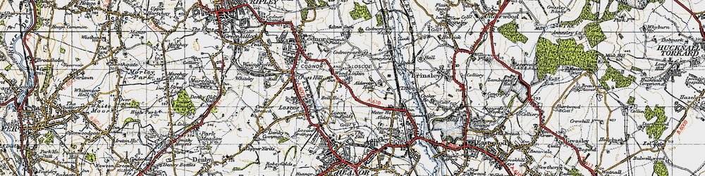 Old map of Woodlinkin in 1946