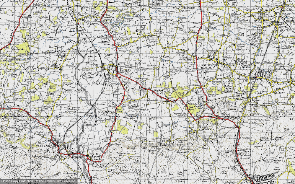 Old Map of Woodmancote, 1940 in 1940