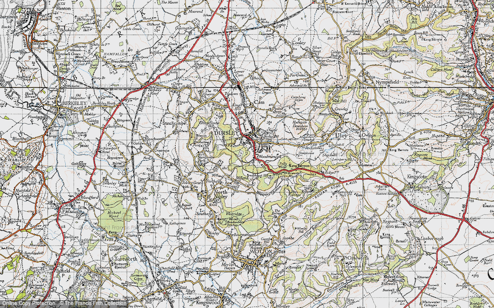 Old Map of Woodmancote, 1946 in 1946