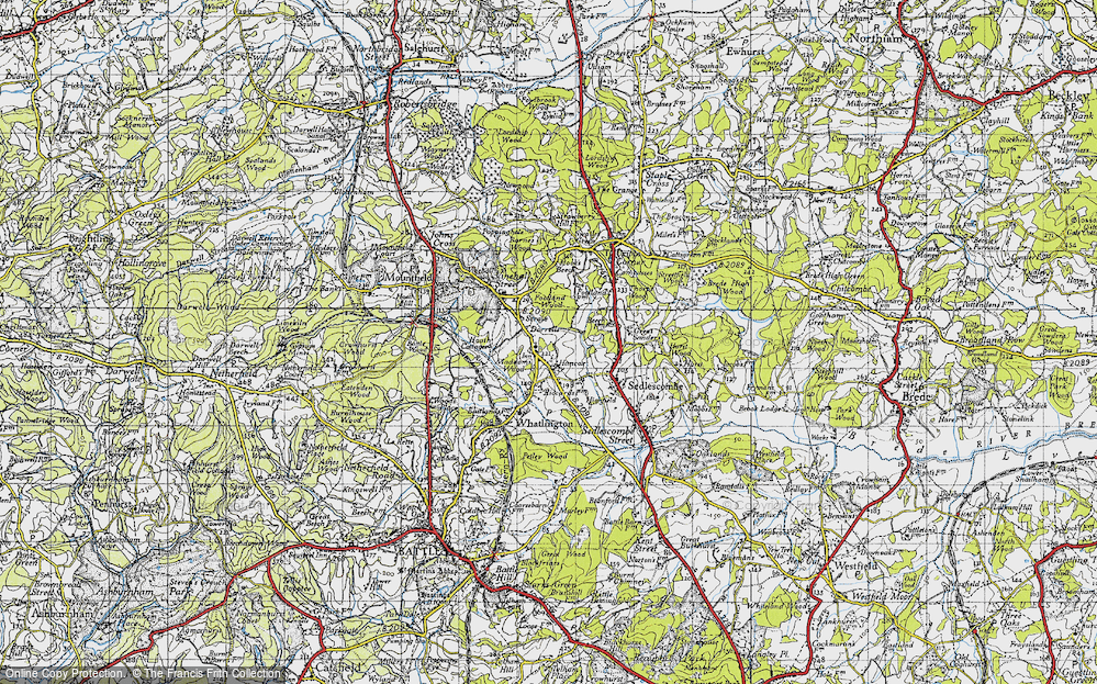 Old Map of Woodmans Green, 1940 in 1940