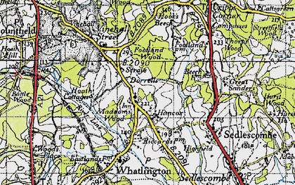 Old map of Woodmans Green in 1940