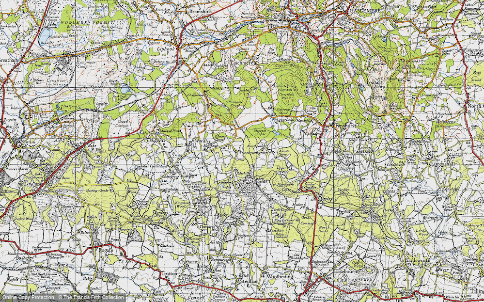 Old Map of Woodmansgreen, 1940 in 1940