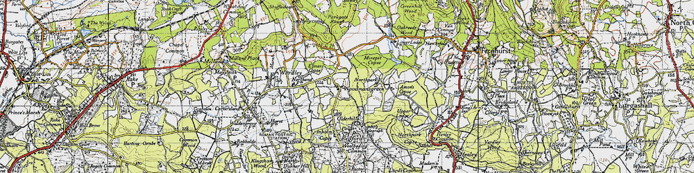 Old map of Woodmansgreen in 1940