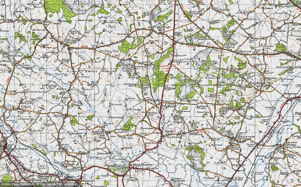 Old Map of Woodmill, 1946 in 1946