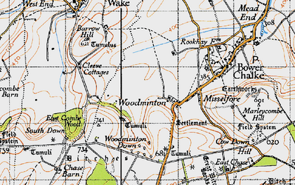 Old map of Woodminton in 1940