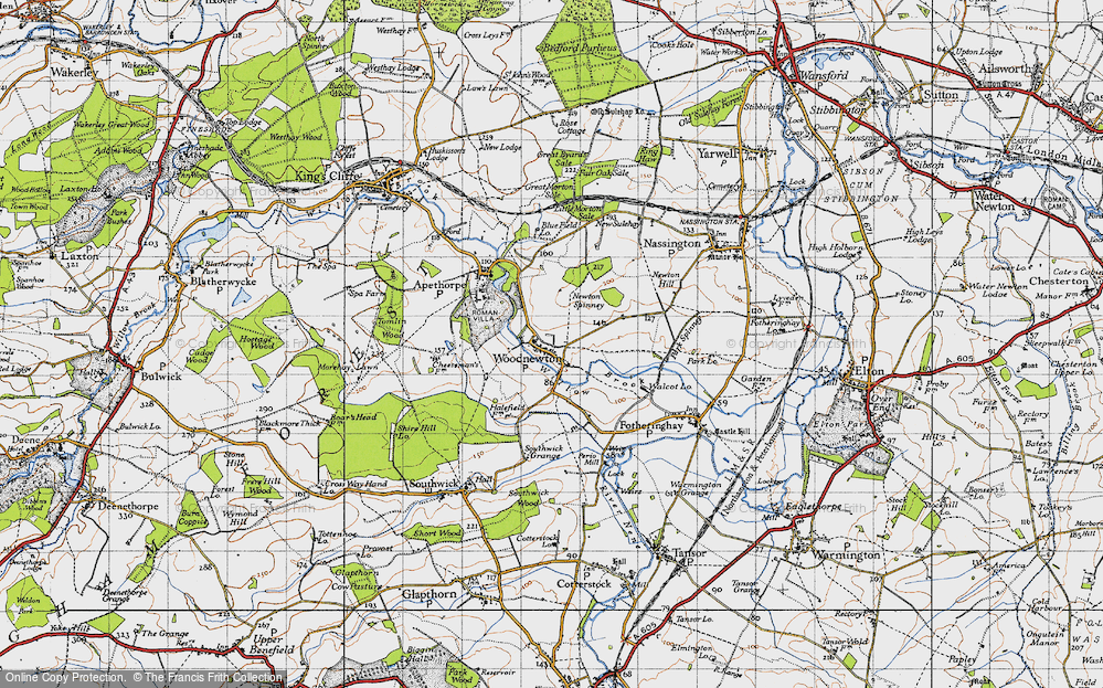 Old Map of Woodnewton, 1946 in 1946