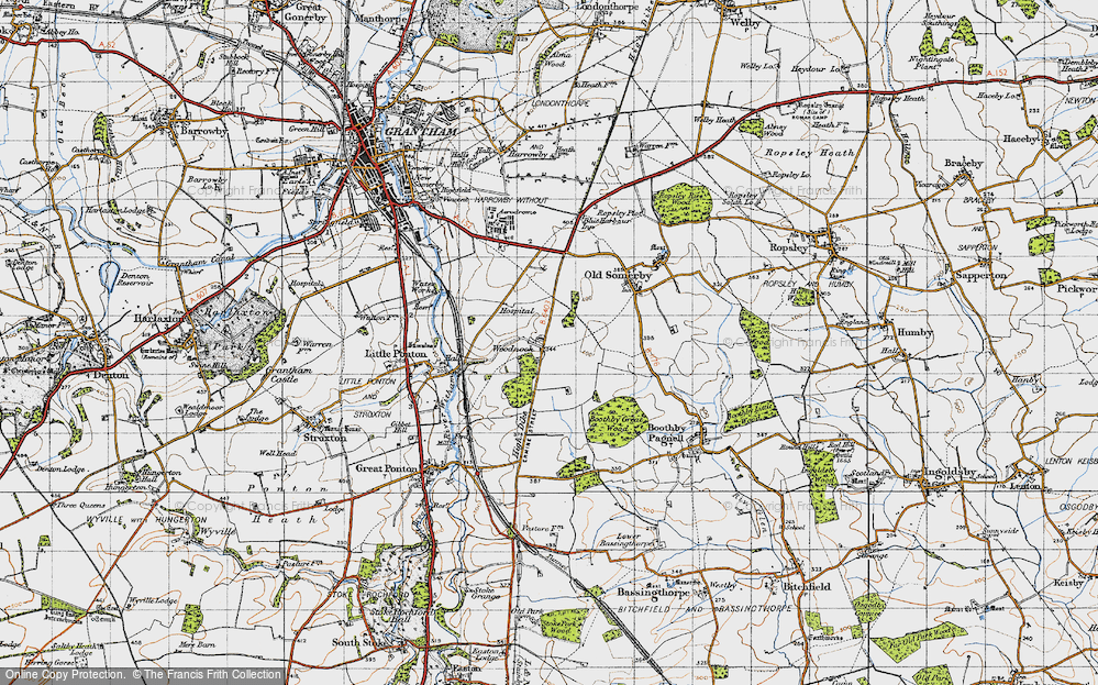 Old Map of Woodnook, 1946 in 1946