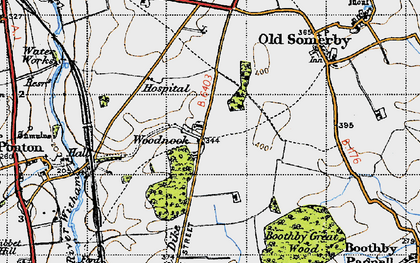 Old map of Woodnook in 1946