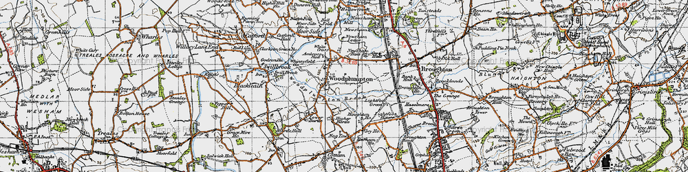 Old map of Woodplumpton in 1947