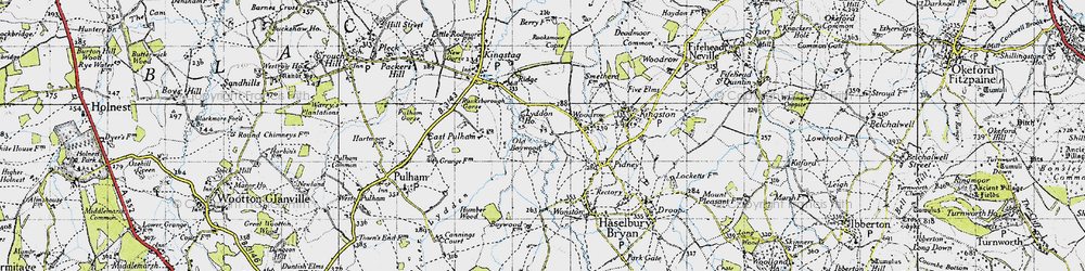 Old map of Woodrow in 1945