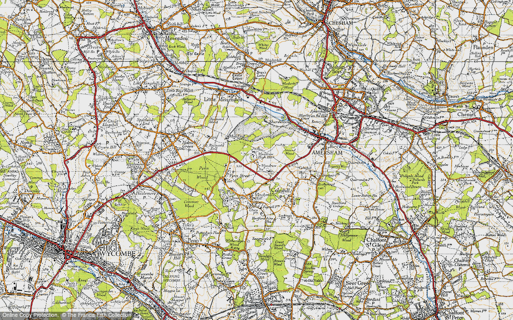Old Map of Woodrow, 1946 in 1946