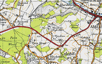 Old map of Woodrow in 1946
