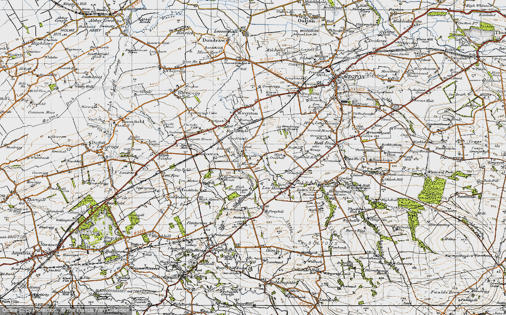 Old Map of Woodrow, 1947 in 1947