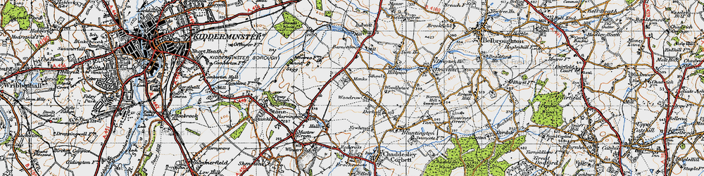 Old map of Woodrow in 1947