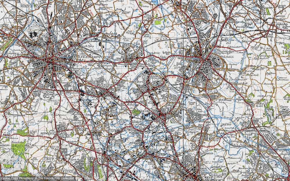 Old Map of Woods Bank, 1946 in 1946
