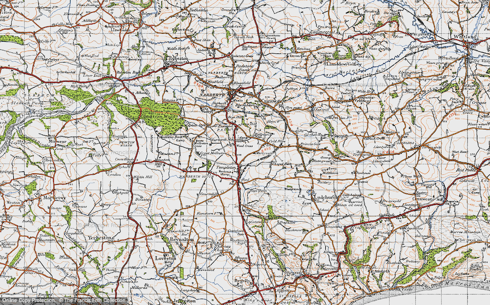 Old Map of Woods Cross, 1946 in 1946