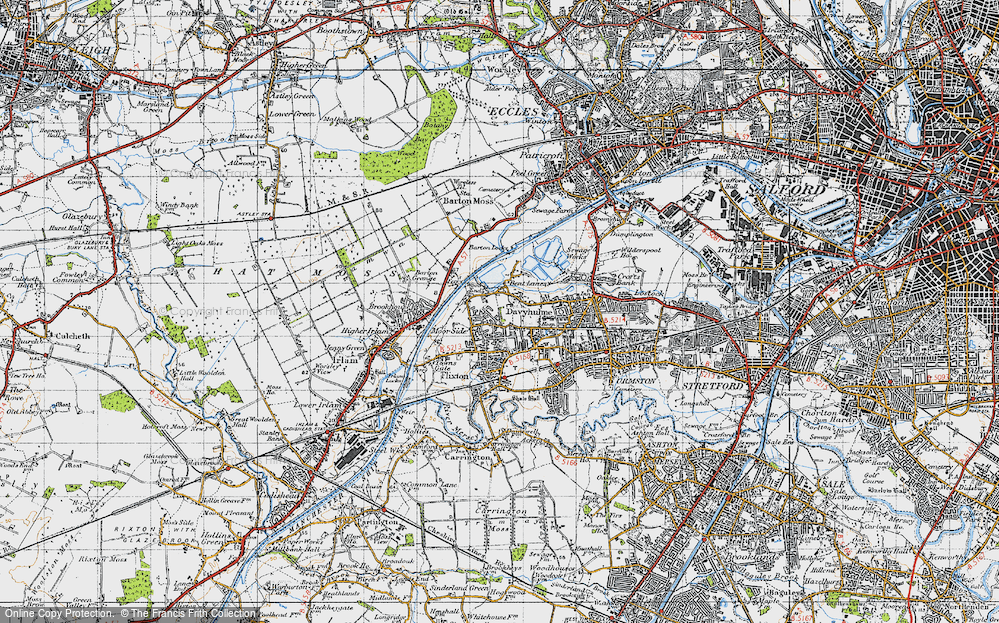 Old Map of Woods End, 1947 in 1947