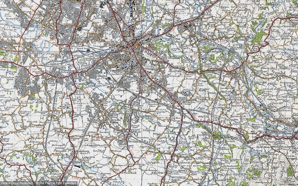 Old Map of Woods Moor, 1947 in 1947
