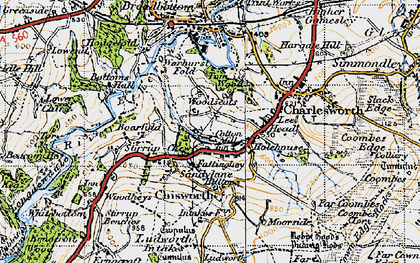 Old map of Woodseats in 1947