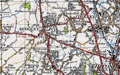 Old map of Woodsetton in 1946