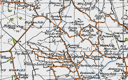 Old map of Woodsfold in 1947