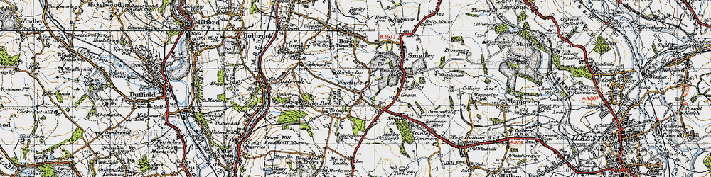 Old map of Woodside in 1946