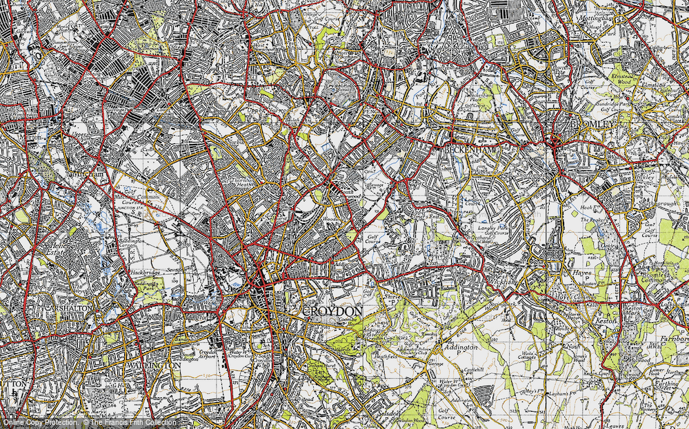 Old Map of Woodside, 1946 in 1946