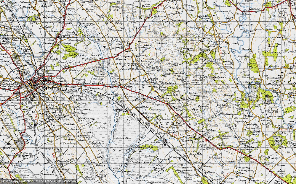 Old Map of Historic Map covering Linns in 1947