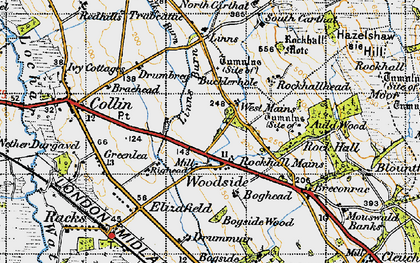 Old map of Linns in 1947