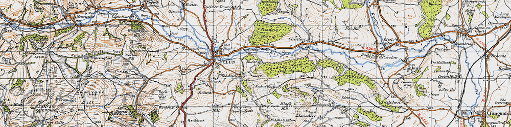 Old map of Woodside in 1947