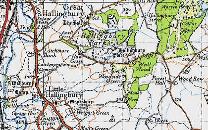 Old map of Woodside Green in 1946