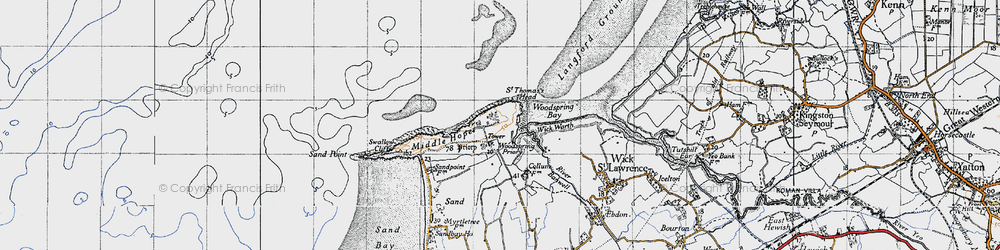 Old map of Wick Warth in 1946