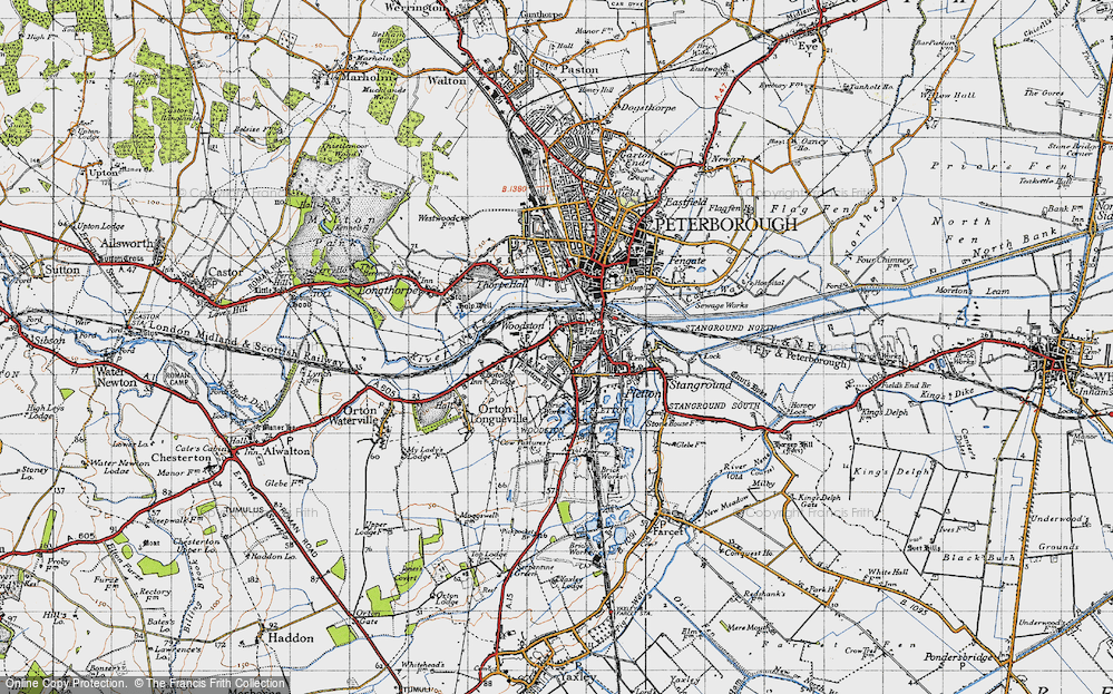 Old Map of Woodston, 1946 in 1946