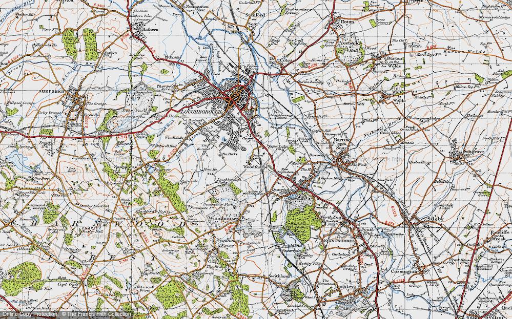 Old Map of Woodthorpe, 1946 in 1946