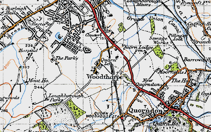 Old map of Whatoff Lodge in 1946