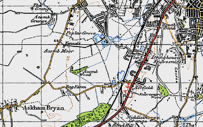 Old map of Askham Bogs in 1947
