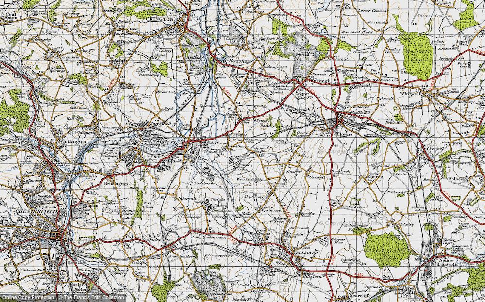 Old Map of Woodthorpe, 1947 in 1947