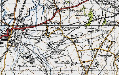Old map of Woodthorpe in 1947