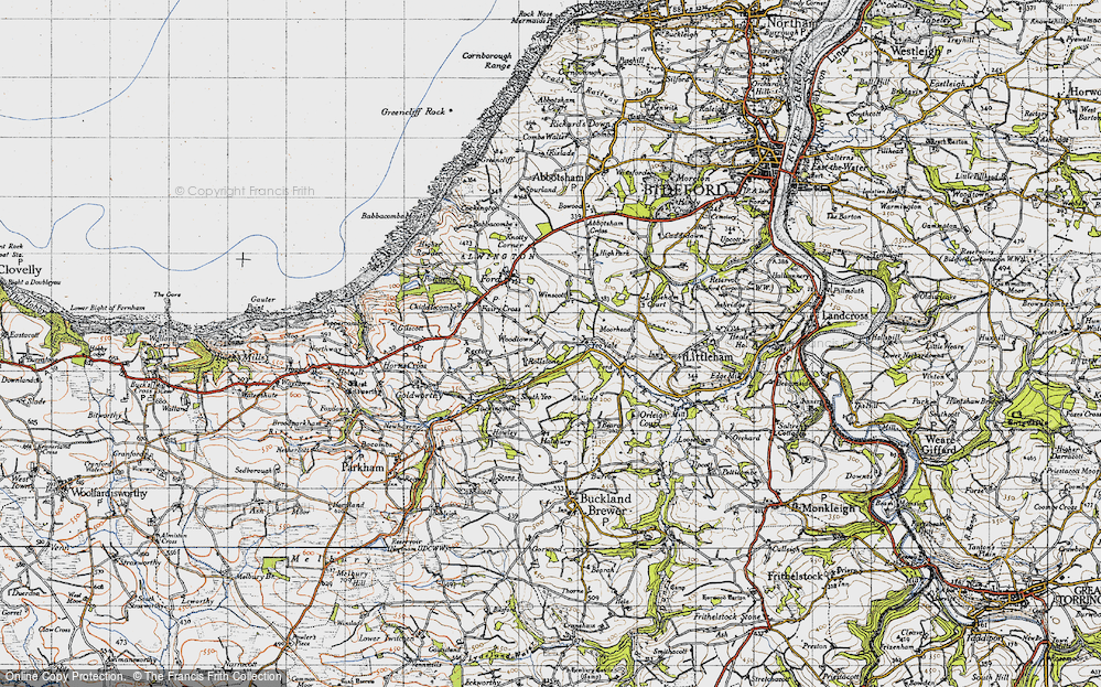 Old Map of Woodtown, 1946 in 1946