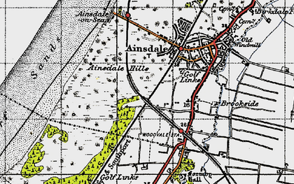 Old map of Woodvale in 1947