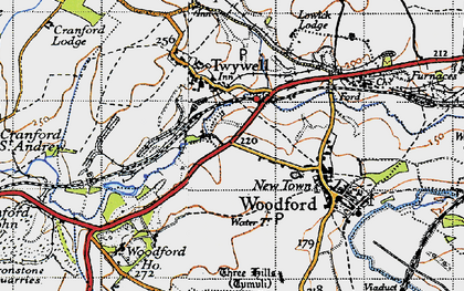 Old map of Woodford Ho in 1946