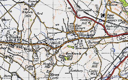 Old map of Wookey in 1946