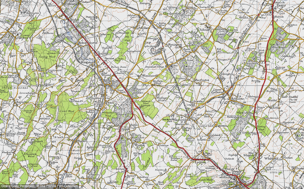 Old Map of Woolage Green, 1947 in 1947